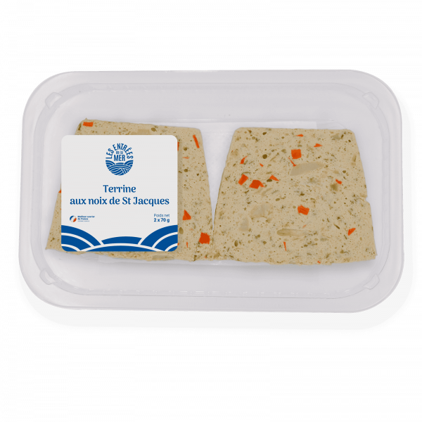 Terrine noix de st Jacque 2x70g etiq | Les Entrées de la mer