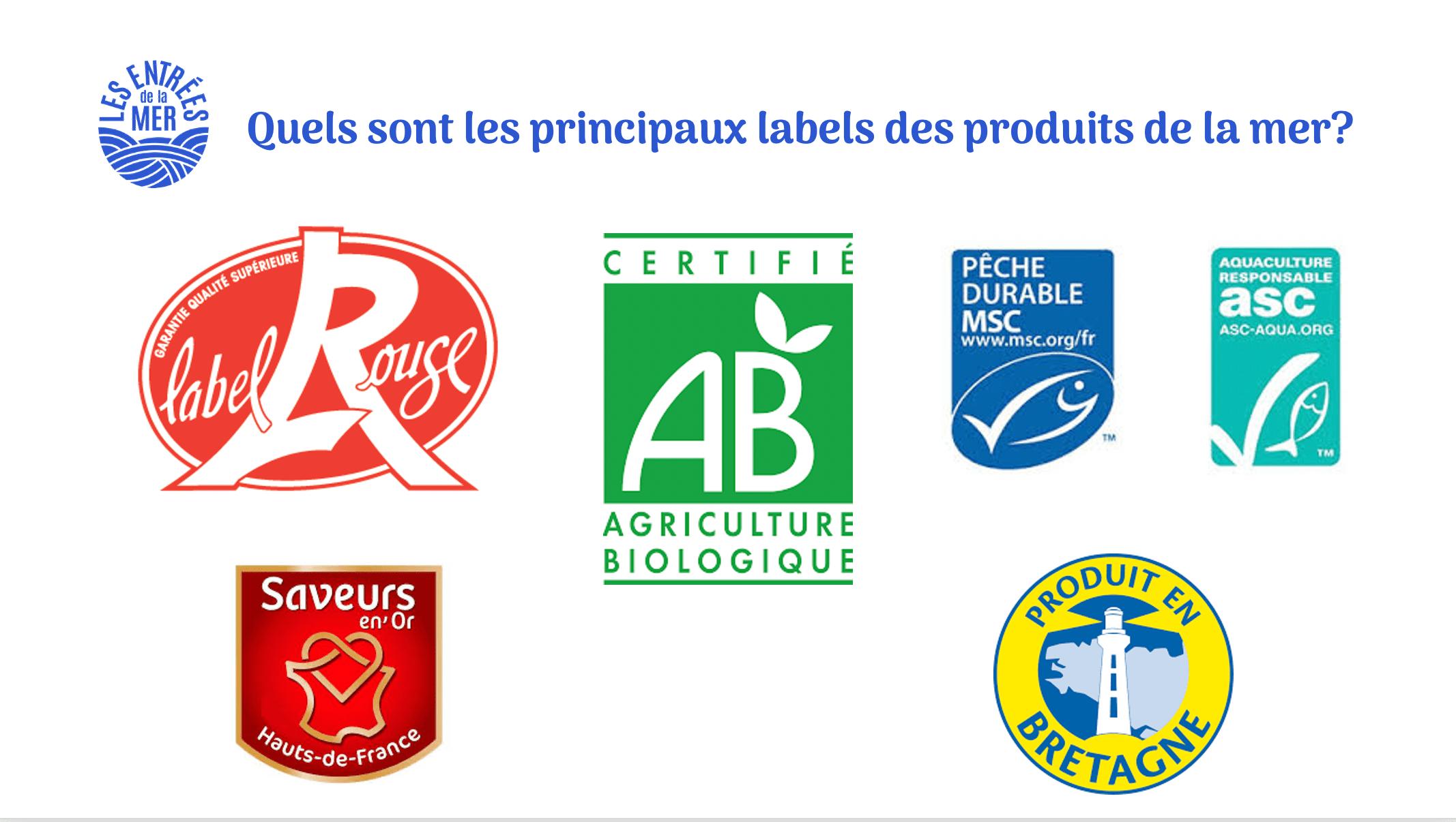 Labels produits de la mer, traiteur de la mer | Les Entrées de la Mer