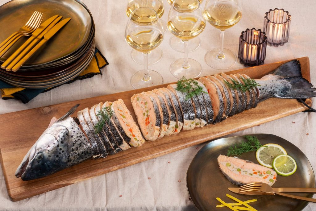saumon farci Label Rouge, traiteur de la mer | les Entrees de la Mer