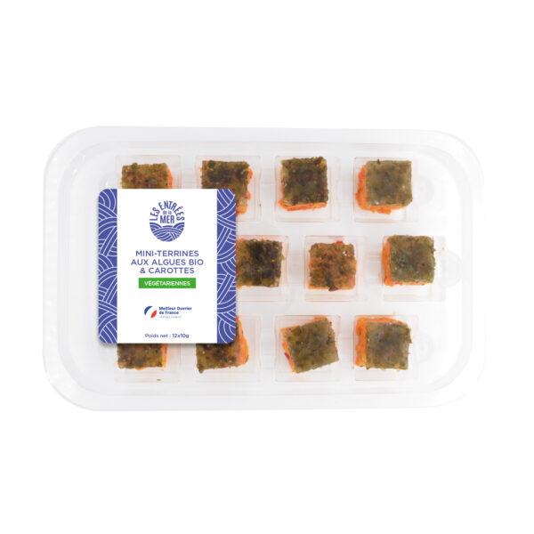 Mini-terrines aux algues bio & carottes | traiteur de la mer | Les entrées de la mer